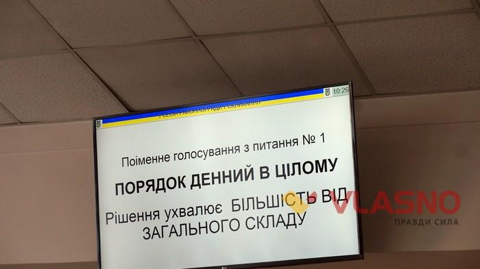 голосування на сесії Вінницької райради фото