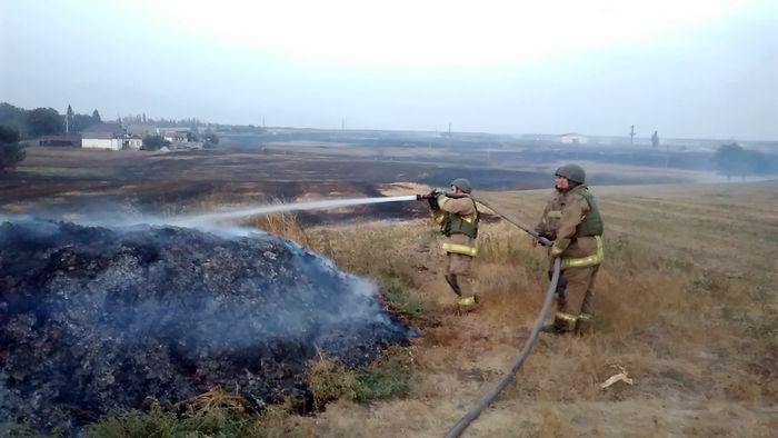 пожежа на військовому складі в селі Новоянісоль фото